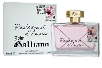 John Galliano Parlez-Moi d'Amour eau de toilette pentru femei 80 ml