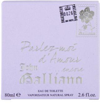 John Galliano Parlez Moi d'Amour Encore toaletná voda pre ženy 80 ml