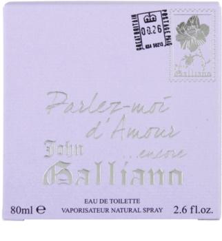 John Galliano Parlez Moi d'Amour Encore toaletní voda pro ženy 80 ml