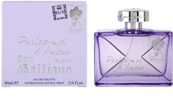John Galliano Parlez-Moi d'Amour Encore eau de toilette para mulheres 80 ml