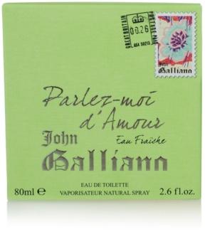 John Galliano Parlez-Moi d'Amour Eau Fraîche toaletna voda za ženske 80 ml