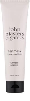 John Masters Organics Rose & Apricot haj maszk