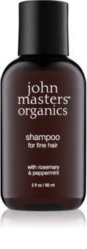 John Masters Organics Rosemary & Peppermint šampón pre jemné vlasy