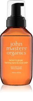 John Masters Organics Lemon & Ginger pěnové mýdlo na ruce a tělo