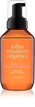 John Masters Organics Orange & Rose pěnové mýdlo na ruce a tělo
