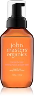 John Masters Organics Orange & Rose săpun spumant pentru mâini și corp