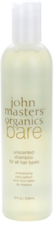 John Masters Organics Bare Unscented sampon minden hajtípusra parfümmentes