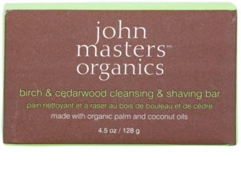 John Masters Organics Birch & Cedarwood очищуюче мило для гоління для чоловіків та жінок