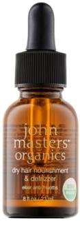 John Masters Organics Dry Hair Nourishment & Defrizzer ápoló olaj hajegyenesítésre