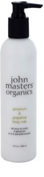 John Masters Organics Geranium & Grapefruit latte corpo