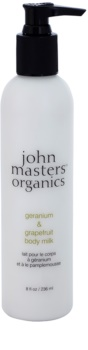 John Masters Organics Geranium & Grapefruit leche corporal