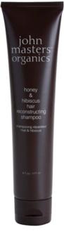 John Masters Organics Honey & Hibiscus szampon odbudowujący włosy do wzmocnienia włosów