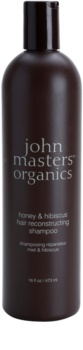 John Masters Organics Honey & Hibiscus obnovujúci šampón pre posilnenie vlasov