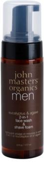 John Masters Organics Men mousse de rasage nettoyante 2 en 1