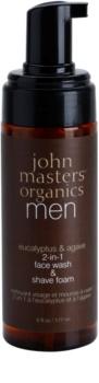 John Masters Organics Men čisticí a holicí pěna 2v1