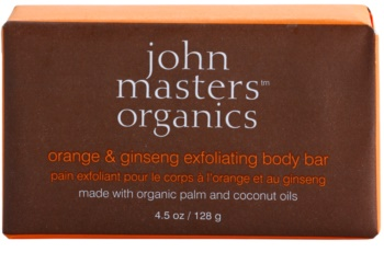 John Masters Organics Orange & Ginseng jemné tělové peelingové mýdlo