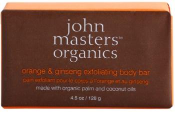 John Masters Organics Orange & Ginseng nežno piling milo za telo
