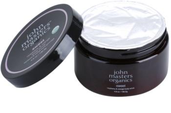 John Masters Organics Sweet Raspberry & Orange exfoliant corp pentru piele neteda si delicata