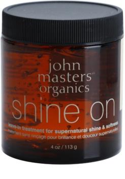 John Masters Organics Shine On formázó gél a puha és fényes hajért