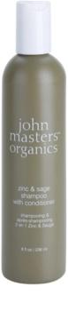 John Masters Organics Zinc & Sage shampoing et après-shampoing 2 en 1 pour cuir chevelu irrité