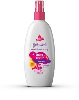 Johnson's Baby Shiny Drops condicionador sem enxaguar em spray com óleo de argan