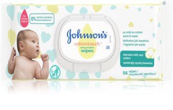 Johnson's Baby Cottontouch extrem feine, angefeuchtete Reinigungstücher für Kinder ab der Geburt