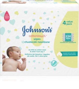 Johnson's Baby Cottontouch sanfte Feuchtigkeitstücher für Kleinkinder