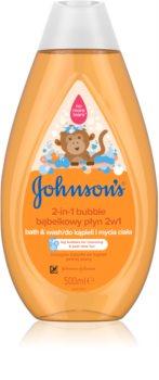 Johnson's Baby Wash and Bath baño de burbujas y gel de ducha 2 en 1