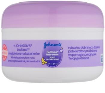 Johnson's Baby Bedtime crema corporal para tener un buen sueño