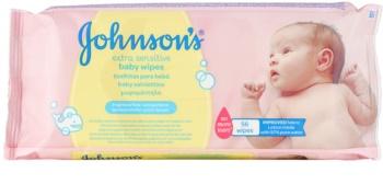 Johnson's Baby Diapering ekstra delikatkne, nawilżające chusteczki oczyszczające dla dzieci