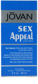 Jovan Sex Appeal Eau de Cologne für Herren 88 ml