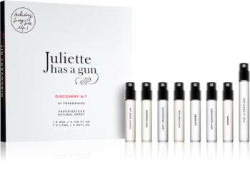 Juliette has a gun Discovery Gift Set  Not a Perfume, Mmmm..., Anyway, Sunny Side Up, Gentlewoman, Mad Madame, Lady Vengeance, Another Oud