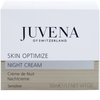 Juvena Skin Optimize Night Cream For Sensitive Skin