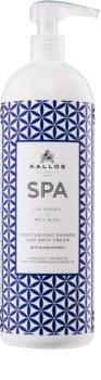 Kallos Spa gel creme para banho e duche com efeito hidratante