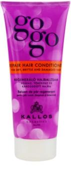 Kallos Gogo après-shampoing régénérant pour cheveux secs et abîmés