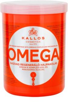 Kallos KJMN maschera per capelli nutriente con complesso omega 6 e olio di macadamia