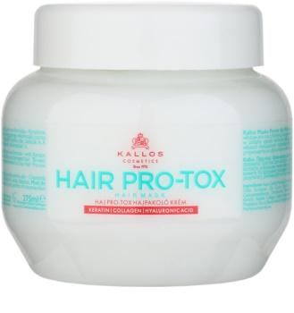 Kallos KJMN maska do włosów słabych i zniszczonych z olejkiem kokosowym, kwasem hialuronowym i kolagenem