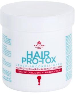 Kallos KJMN après-shampoing sans rinçage pour cheveux secs et abîmés
