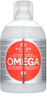 Kallos KJMN regeneracijski šampon z omega-6 kompleksom in makadamijevim oljem