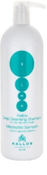 Kallos KJMN hĺbkovo čistiaci šampón pre mastné vlasy a vlasovú pokožku