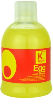 Kallos Egg θρεπτικό σαμπουάν για ξηρά και κανονικά μαλλιά
