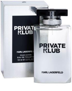 Karl Lagerfeld Private Klub Eau de Toilette voor Mannen 100 ml