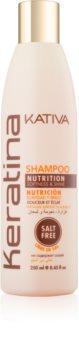 Kativa Keratina hranilni šampon za sijaj in mehkobo las