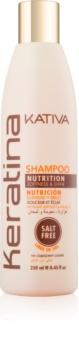 Kativa Keratina vyživujúci šampón na lesk a hebkosť vlasov