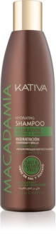 Kativa Macadamia champú hidratante para dar brillo y suavidad al cabello