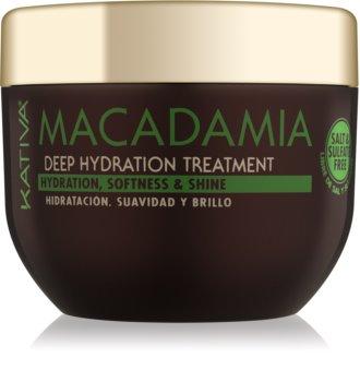 Kativa Macadamia maschera rigenerante e idratante per tutti i tipi di capelli