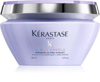 Kérastase Blond Absolu Masque Ultra-Violet маска для корекції кольору освітленого волосся для освітленого та мілірованого блонд волосся