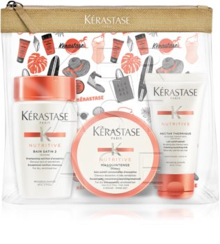 Kérastase Nutritive Travelpouch καλλυντικό σετ για ξηρά και κανονικά μαλλιά