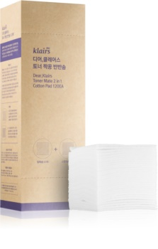 Klairs Supple Preparation Cotton Pads for Makeup Removal and Skin Cleansing