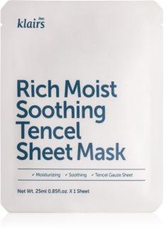Klairs Rich Moist zklidňující plátýnková maska s hydratačním účinkem